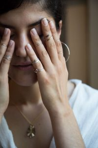 rings, earrings, and necklaces made on Vancouver Island in Courtenay by Umlaut Jewellery