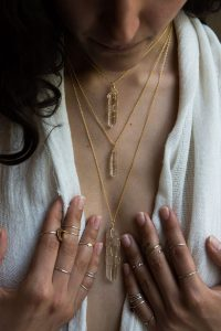 3 set Quartz Crystal Necklace, Vancouver Island jewellery made in Courtenay B.C. by Umlaut