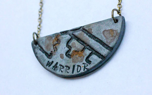 warrior necklace, Vancouver Island jewelry made by Uprise in Parksville BC