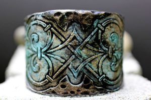 Victorian cuff bracelet Vancouver Island jewelry made by Uprise in Parksville BC
