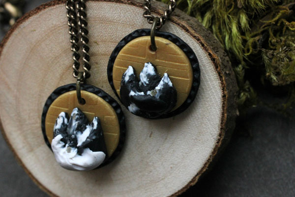 Mountain necklace, jewelry made on Vancouver Island by Uprise