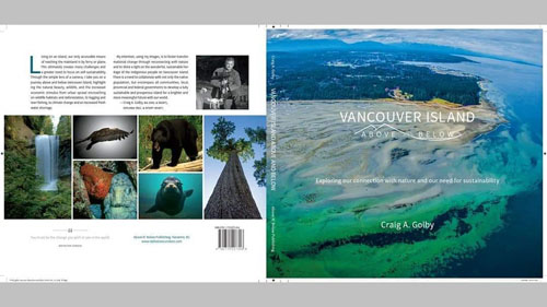 Page from Vancouver Island Above and Beyond, book written locally on Vancouver Island, B.C.