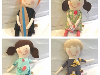custom made dolls for wedding gifts made on Vancouver Island by Sweet Peas Kids Krafts
