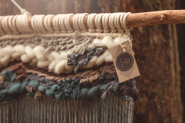 woven wall macrame made on Vancouver Island by West Coast Cozy