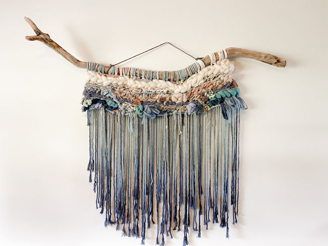 macroweave wall macrame made on Vancouver Island by West Coast Cozy