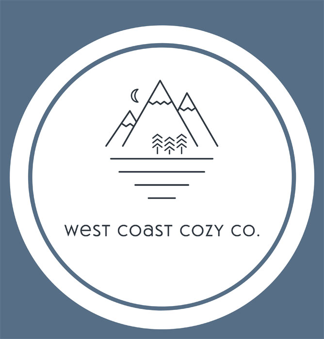 West Coast Cozy logo, macrame art made on Vancouver Island