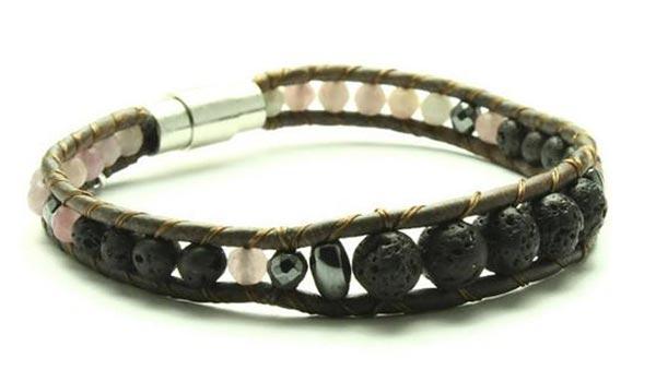 Lavender Quartz Oil Diffuser Bracelet made in Victoria, Canada by Woven Stone Co.