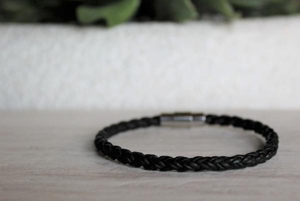 stocking stuffer gift idea handmade on Vancouver Island, leather bracelet