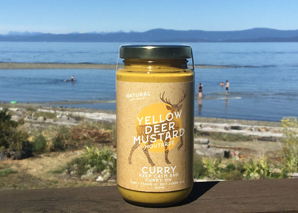 curry mustard, small batch canadian mustard product of vancouver island