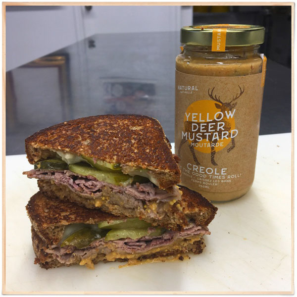 sandwich using Canadian Creole mustard