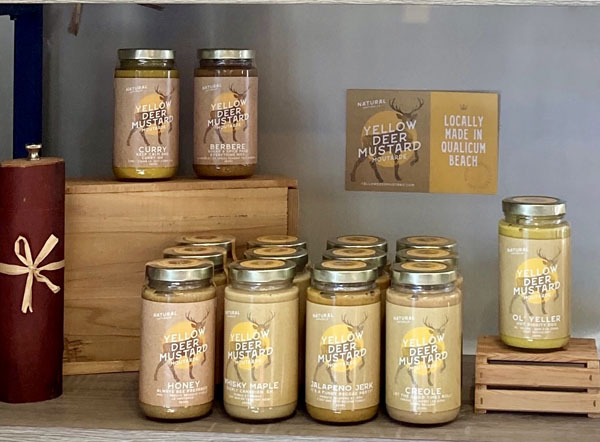 selection of Vancouver Island Qualicum Beach made all natural mustards