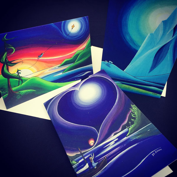 yvonne acheson artwork artcards from vancouver island, local canadian stocking stuffer ideas